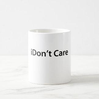 iDon't Care Basic White Mug