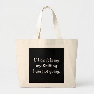 If I can't bring my Knitting... Jumbo Tote Bag