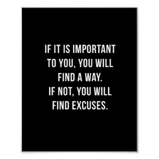 """If it is important - 8""""x10"""" Inspirational Print"""