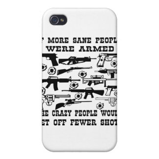If more sane people were armed the crazy people cases for iPhone 4