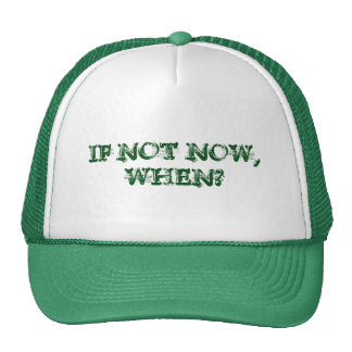 If not NOW, WHEN? Hat