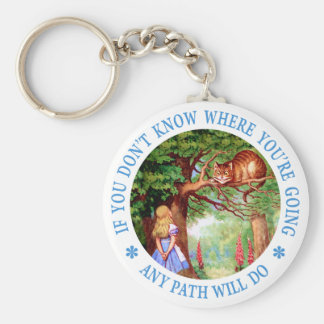 If you don't know where you're going, any path basic round button key ring