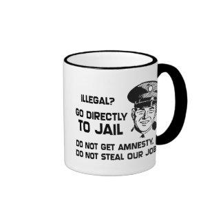 Illegal? Go Directly to Jail. Ringer Mug