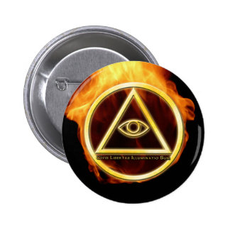 Illuminati on Fire 6 Cm Round Badge