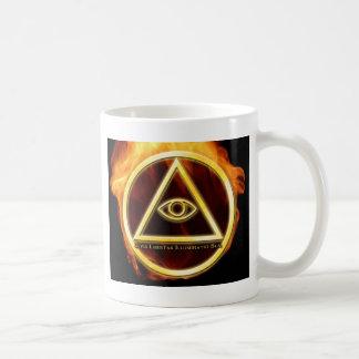 Illuminati on Fire Basic White Mug