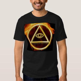 Illuminati on Fire Tshirt