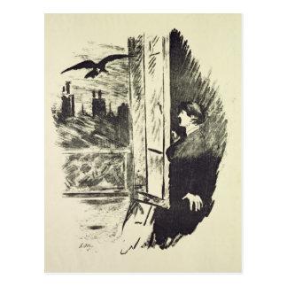 Illustration for 'The Raven' Postcard