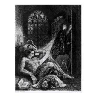 Illustration from 'Frankenstein' Postcard
