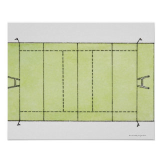 Illustration of a rugby pitch poster