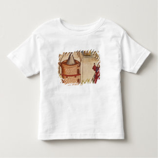 Illustration of an alchemist at work tshirts