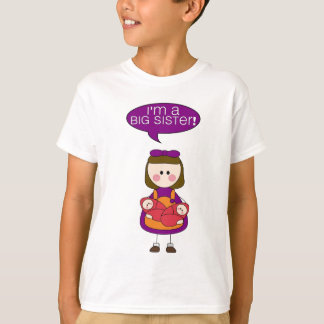 i'm a big sister (twin girls) tee shirts
