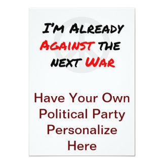 I'm Already Against War 13 Cm X 18 Cm Invitation Card