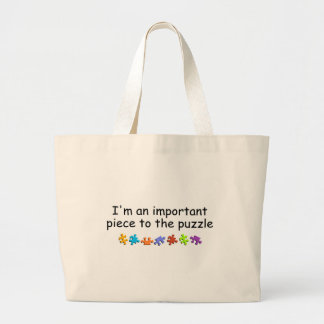 Im An Important Piece Of The Puzzle Jumbo Tote Bag