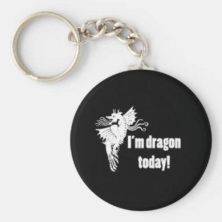 I'm Dragon Today Basic Round Button Key Ring