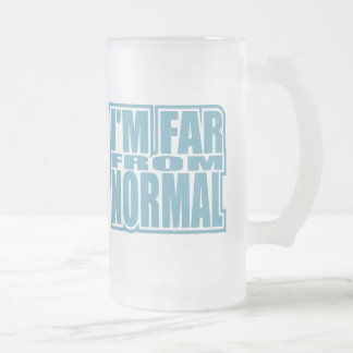 I'm Far from Normal Frosted Glass Mug