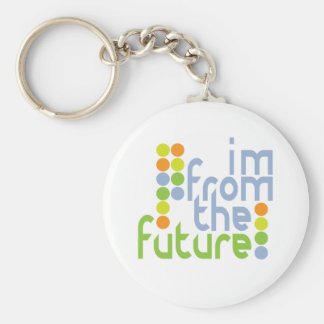 I'm From The Future Basic Round Button Key Ring