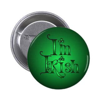 I'M IRISH SHAMROCKS by SHARON SHARPE 6 Cm Round Badge