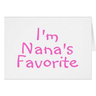 Im Nanas Favorite Greeting Card