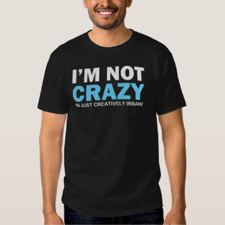 I'm Not Crazy I'm Just Creatively Insane T Shirt