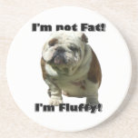 I'm not fat bulldog coasters