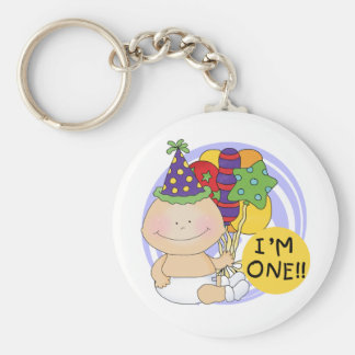 I'm ONE Birthday Tshirts and Gifts Basic Round Button Key Ring