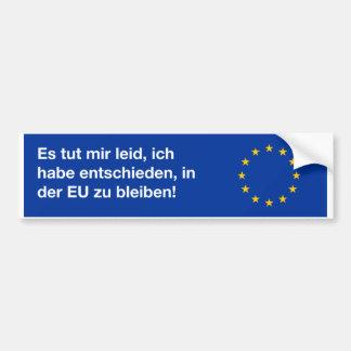 'I'm sorry EU' bumper sticker in German