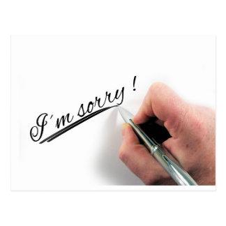 I'm Sorry Handwritten Pen Postcard