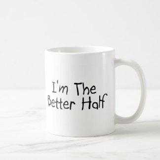 Im the Better Half Basic White Mug