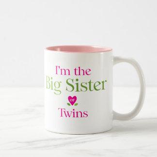 I'm the Big Sister to be Two-Tone Mug