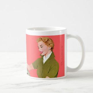 I'm too pretty for a cubicle. basic white mug