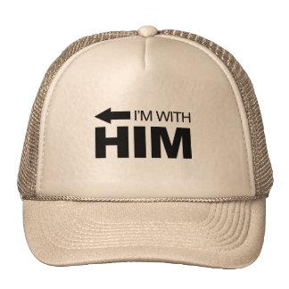 I'm with him (left) cap