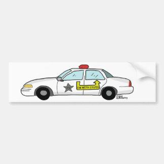 Im With Stupid logo on police officer's patrol car Bumper Sticker