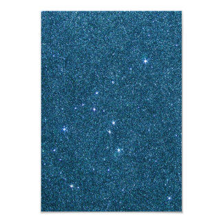 Image of blue trendy glitter 9 cm x 13 cm invitation card