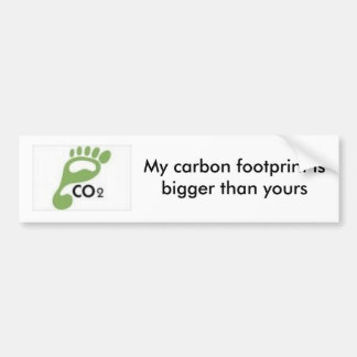 images, My carbon footprint is bigger than yours Bumper Sticker