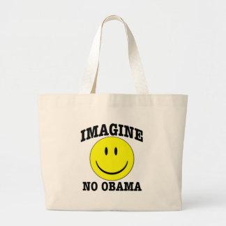 Imagine No OBAMA Jumbo Tote Bag
