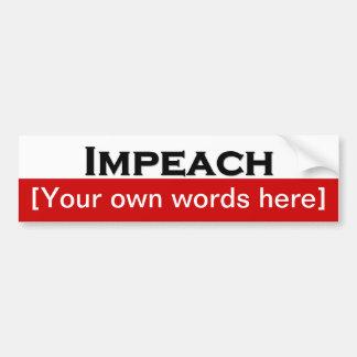 impeach-template bumper sticker