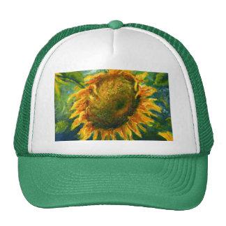 Impressionist Sunflower Face Cap