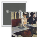In a Cafe, or The Absinthe, c.1875-76 15 Cm Square Badge