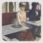 In a Cafe, or The Absinthe, c.1875-76 Square Sticker