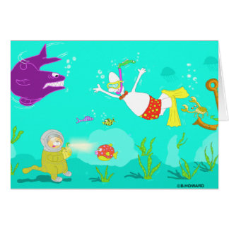 In at the Deep end Greeting Card