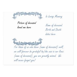 In Loving Memory Postcard