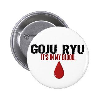 In My Blood GOJU RYU 6 Cm Round Badge