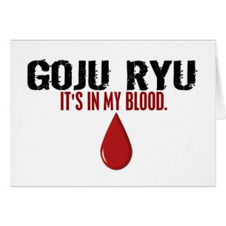 In My Blood GOJU RYU Greeting Card