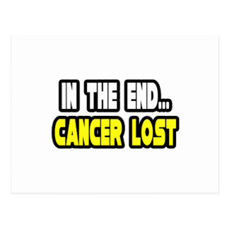 In The End, Cancer Lost Postcard