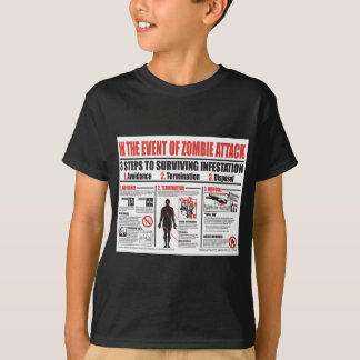 In The Event of Zombie Attack: T SHIRT Boys