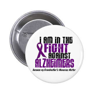 In The Fight Against Alzheimer's GRANDMOTHER 6 Cm Round Badge