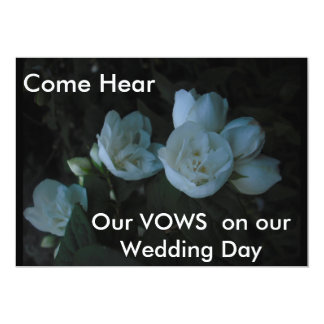 in the light of dawn, Come Hear, Our VOWS  on o... 13 Cm X 18 Cm Invitation Card