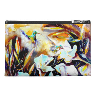 """""""In the Lilies"""" Hummingbird Print Travel Accessories Bags"""