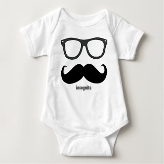 incognito - funny mustache and dark grey shades t-shirt