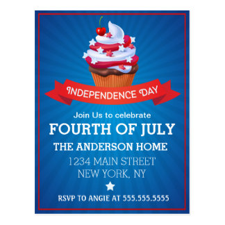 Independence 4th July Postcard